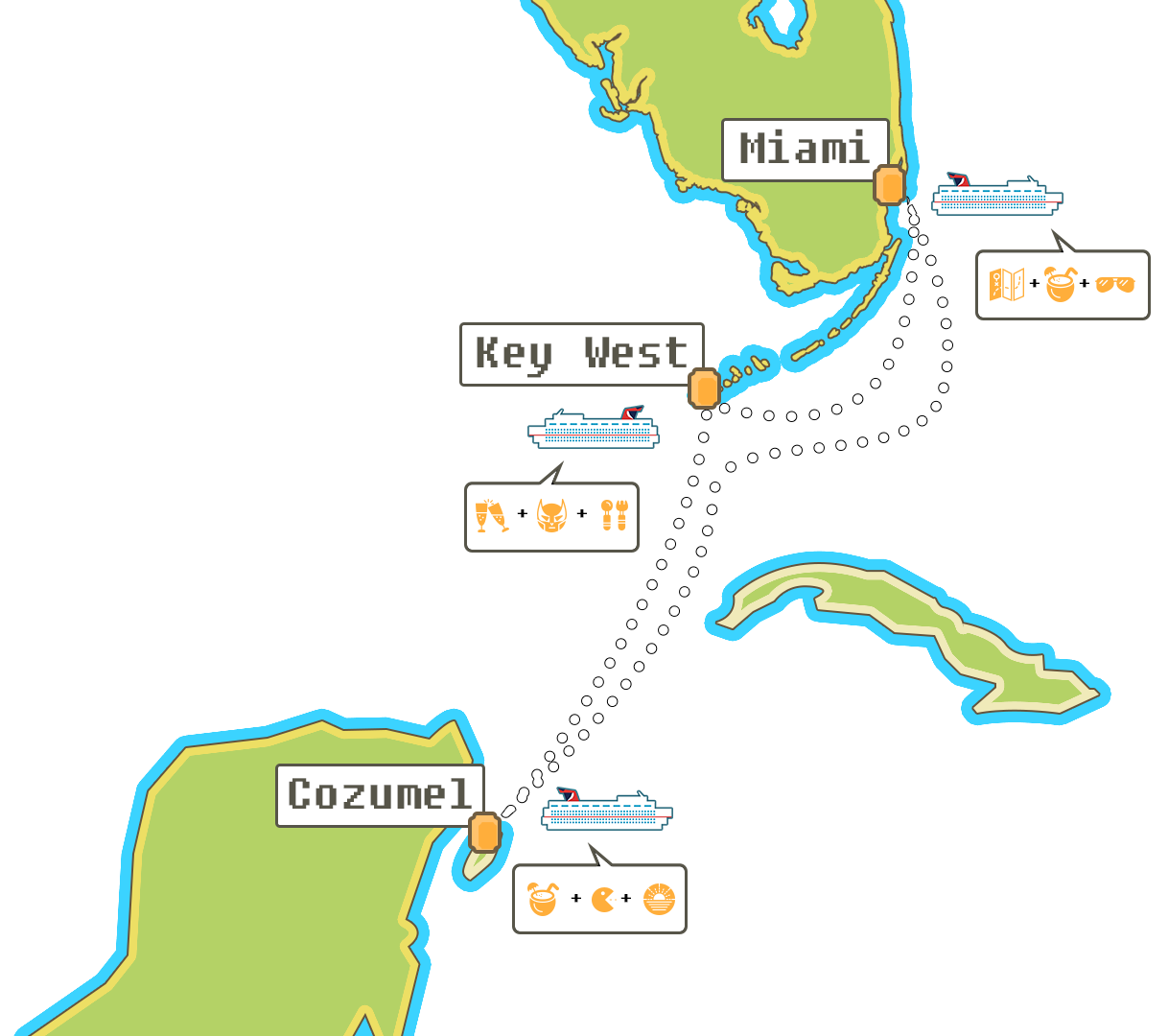 The Game Cruise Itinerary